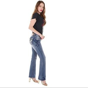 Sexy Couture Mid Rise Bootcut Blue Jeans S736 PB